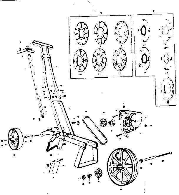 Earthway model 1001B seeder genuine parts