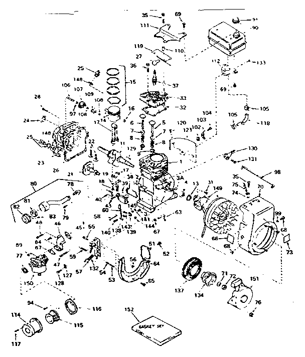 Tecumseh model H35-45509M engine genuine parts
