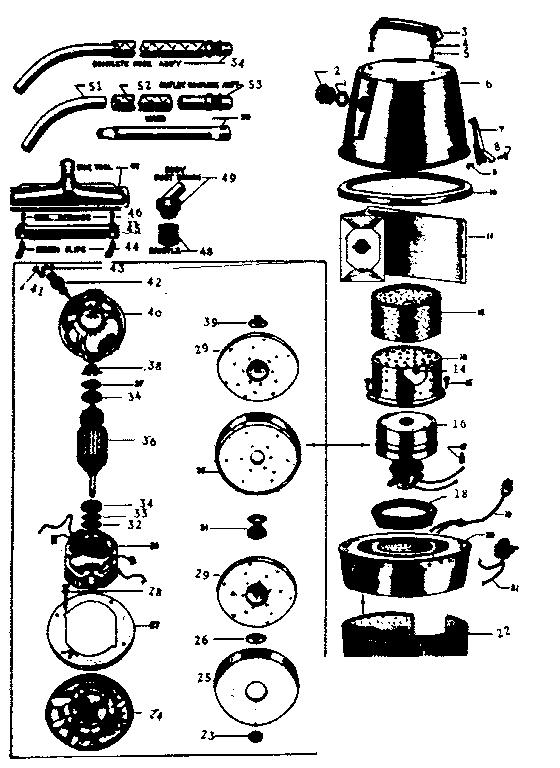 Kenmore model 2088626 vacuum, upright genuine parts
