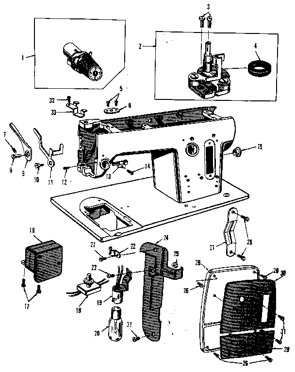 Kenmore model 158950 mechanical sewing machines genuine parts