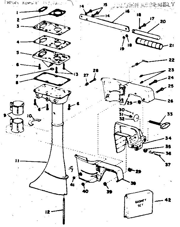 Craftsman model 217585230 boat motor gas genuine parts