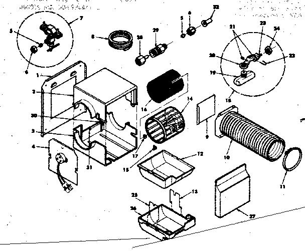 Kenmore model 303936611 humidifier genuine parts