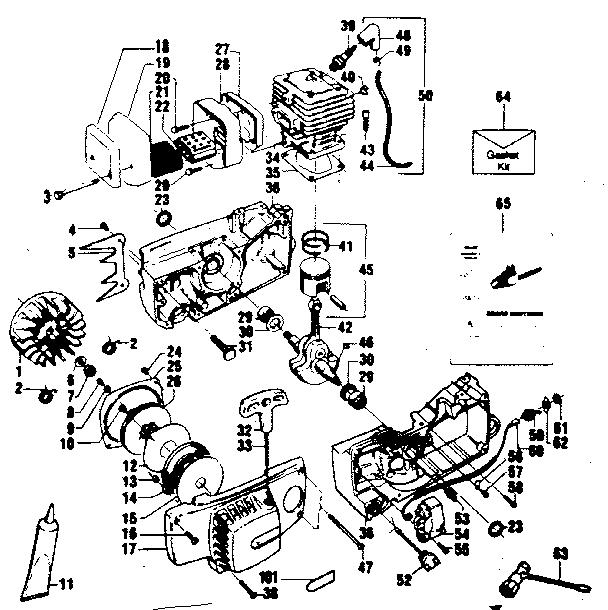 Craftsman model 358356081 chainsaw, gas genuine parts