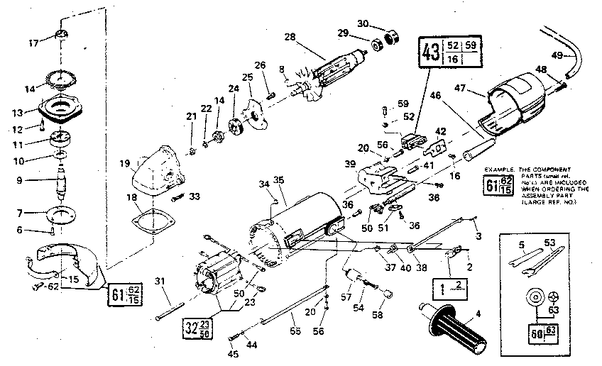 Craftsman model 135115990 disc grinder genuine parts