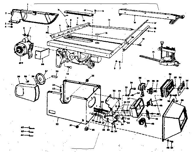 Craftsman model 113221060 table saw genuine parts