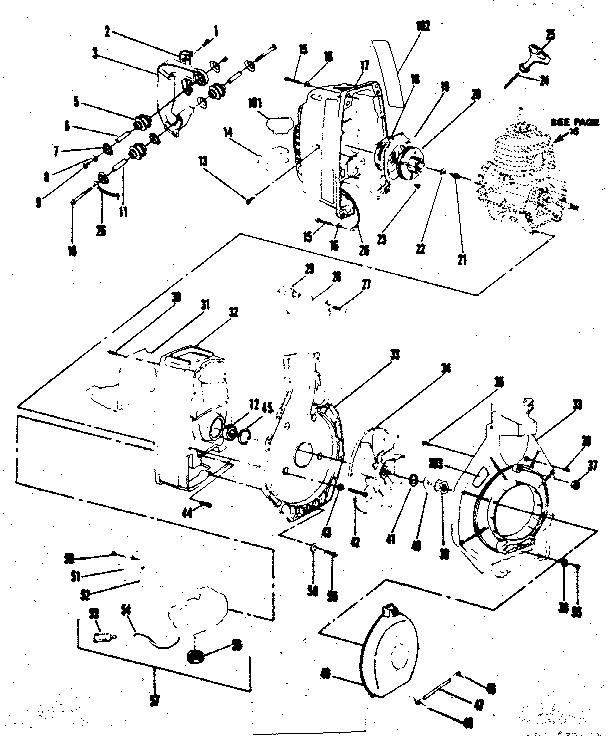 Craftsman model 358799910 blower, gas genuine parts
