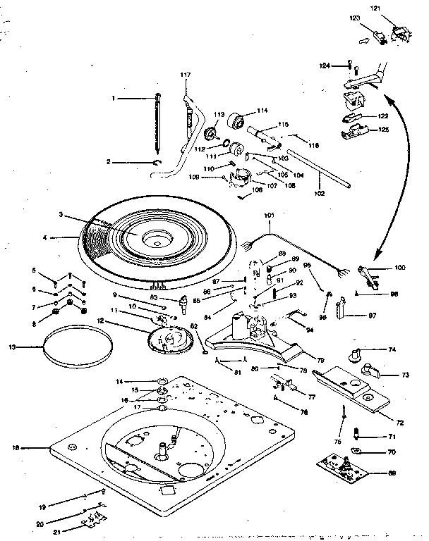 Bsr model 72MX turntable genuine parts