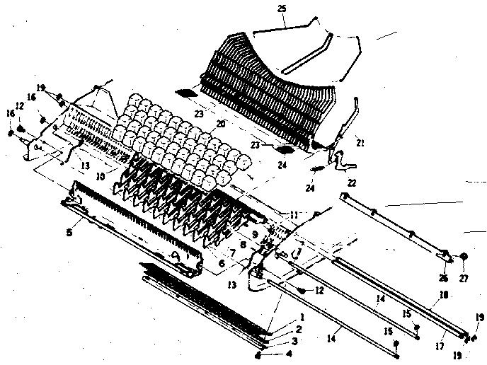 Sears model 16153772 typewriter genuine parts