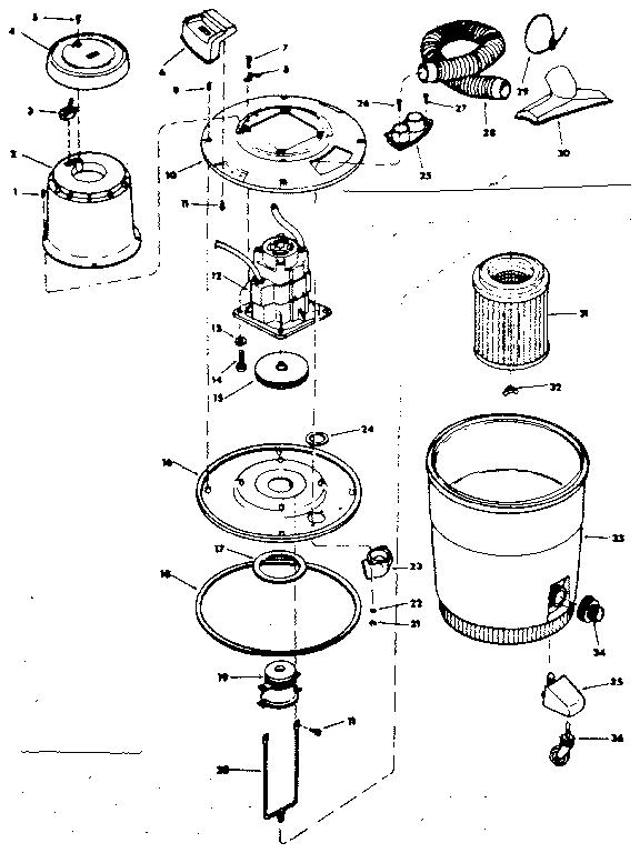 Craftsman model 113178771 wet/dry vacuum genuine parts