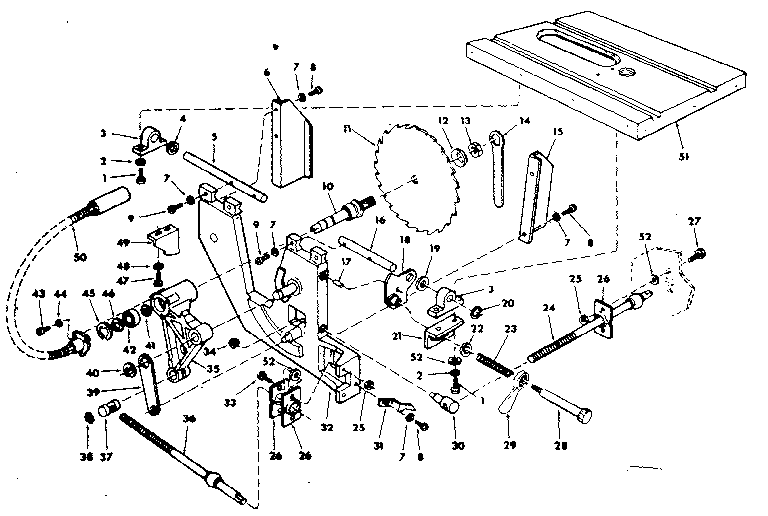 Craftsman model 113241680 table saw genuine parts