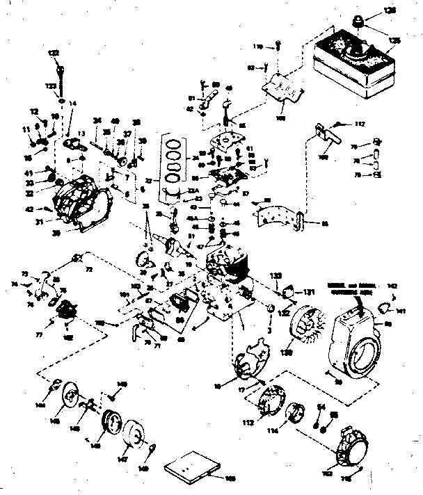 Craftsman model 143766012 engine genuine parts