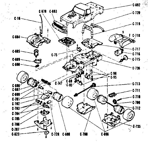 Sears model 636543970 radio/remote control toys genuine parts
