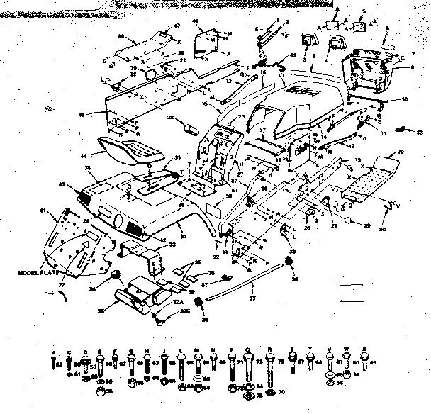 Craftsman model 917253740 lawn, tractor genuine parts