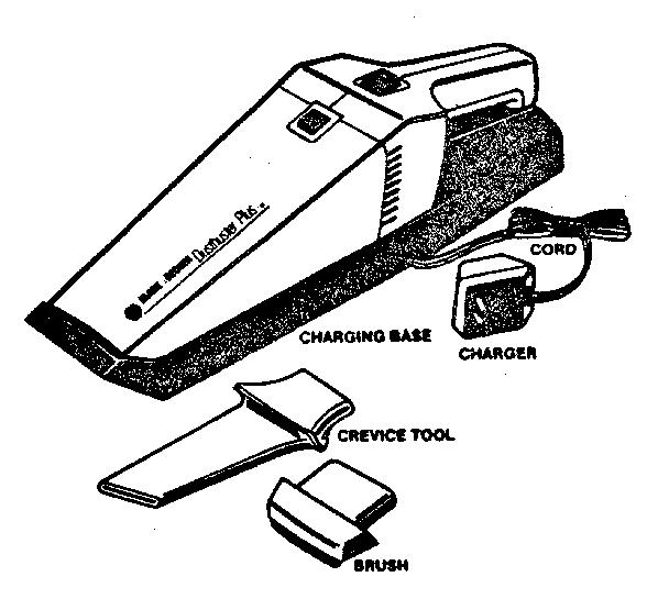 Black-Decker model DUSTBUSTER PLUS 9334 vacuum, hand-held