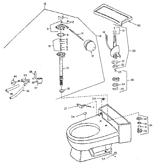 Sears model 738497410 toilet genuine parts