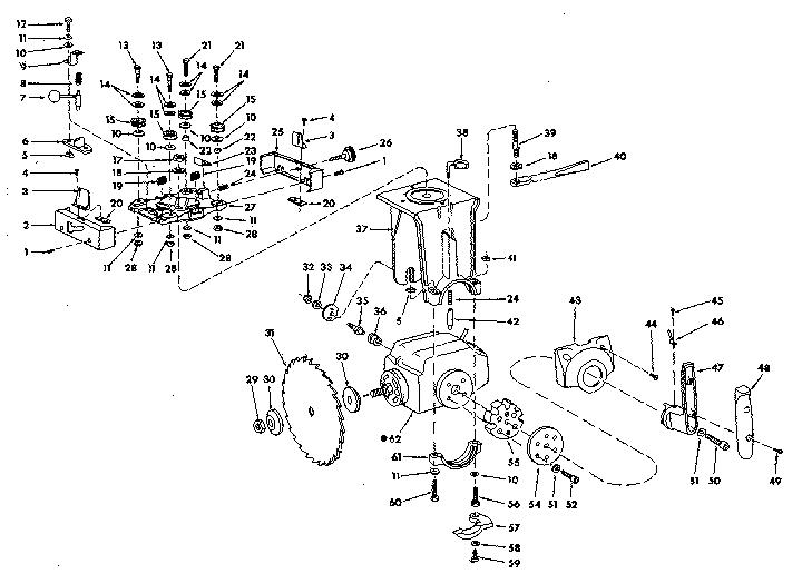 Craftsman model 113199200 saw radial genuine parts