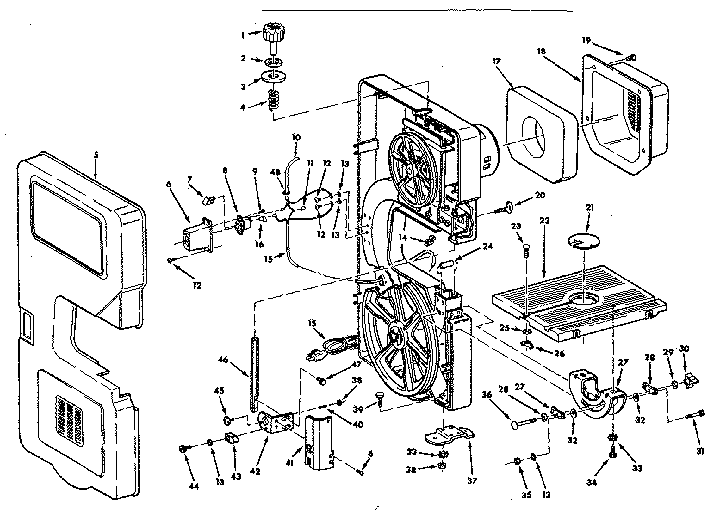 Craftsman model 113247110 saw radial genuine parts