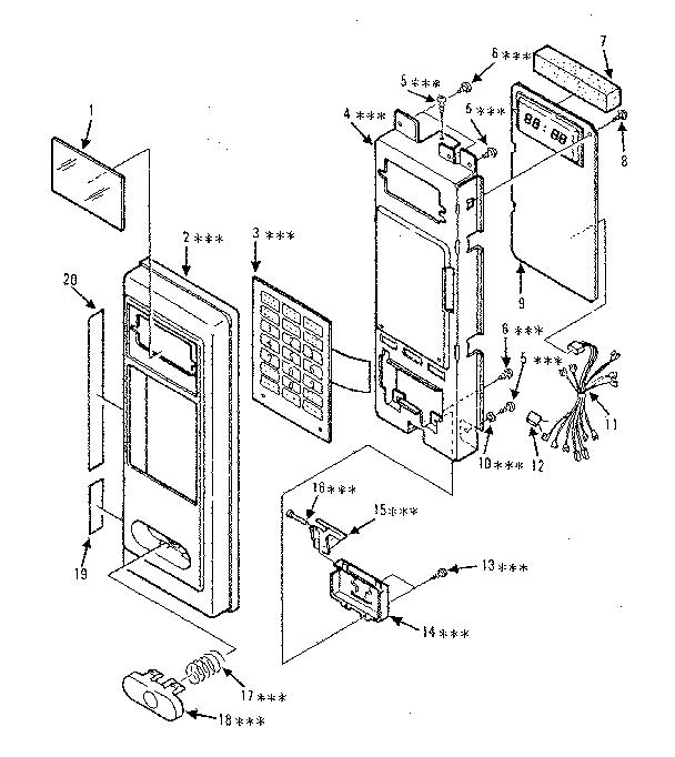 Kenmore model 5668832980 countertop microwave genuine parts