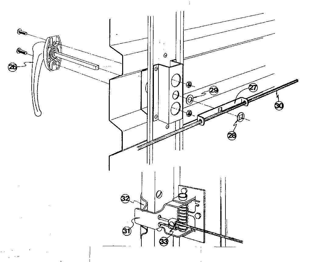 Sears model 23466091 garage door genuine parts