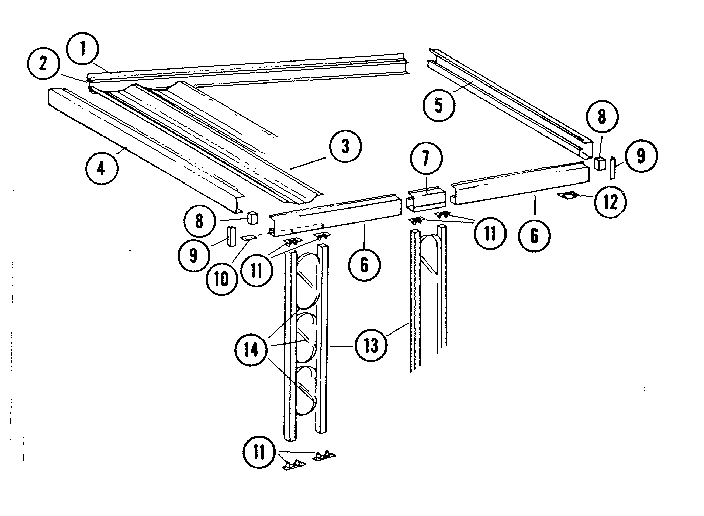 Kenmore model 64776 patio cover genuine parts