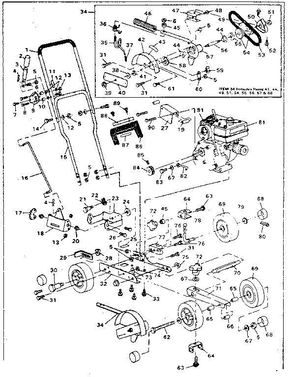 Craftsman model 536796536 edger genuine parts