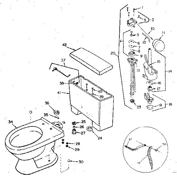 Sears model 738557300 toilet genuine parts