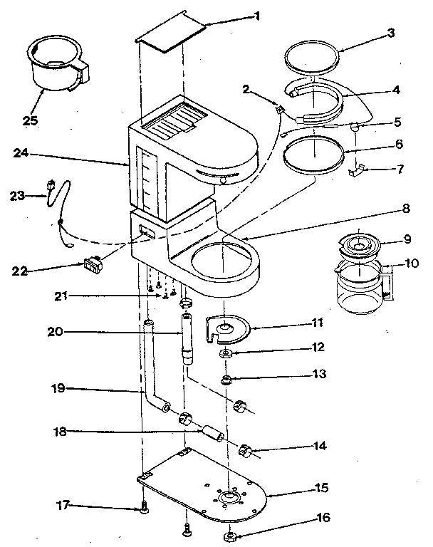 Proctor-Silex model A623 coffee/tea maker genuine parts