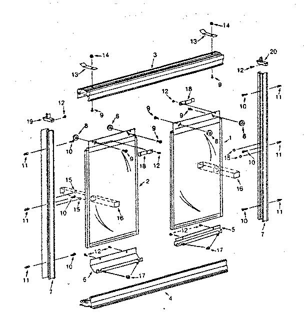 Sears model 392683230 shower door/enclosure genuine parts