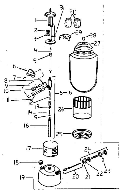 Coleman model 288A700 lantern genuine parts