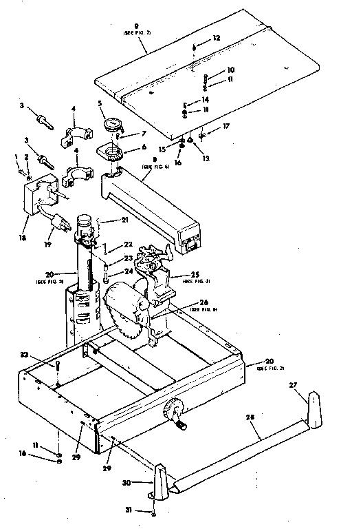 Craftsman model 113198110 saw radial genuine parts