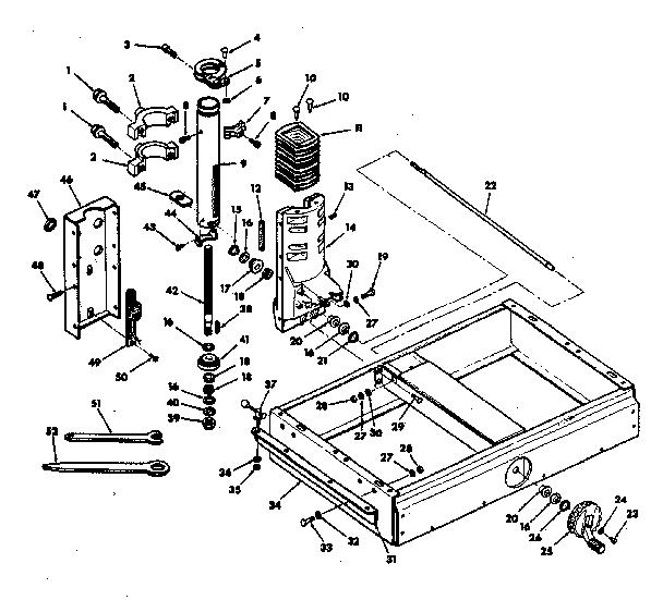 Craftsman model 113198210 saw radial genuine parts