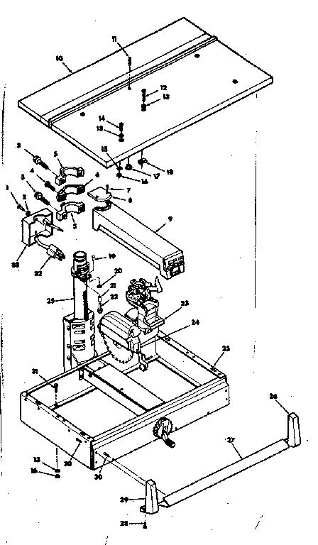 Craftsman model 113198250 saw radial genuine parts