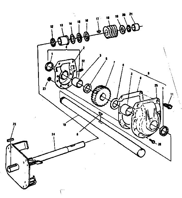 Craftsman model 536884800 snowthrower, gas genuine parts