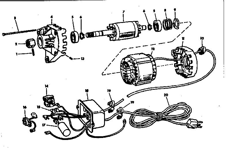 Craftsman model 113298051 motor electric genuine parts