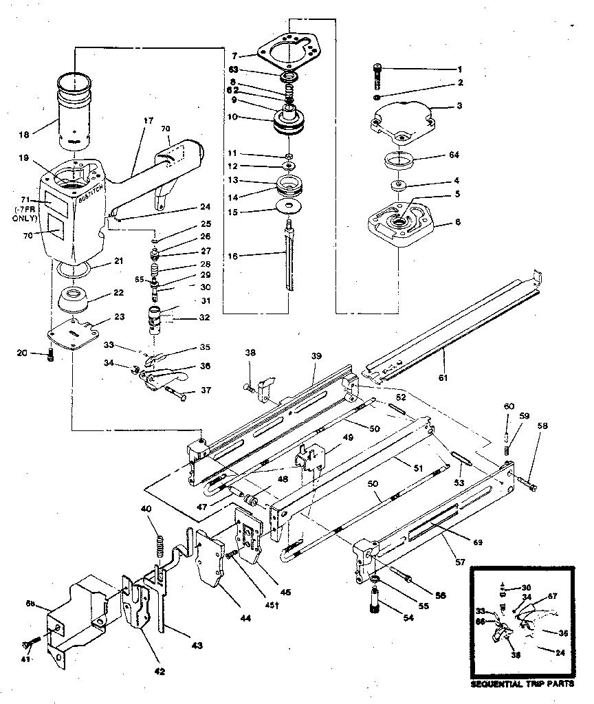 Craftsman model 18981 stapler genuine parts