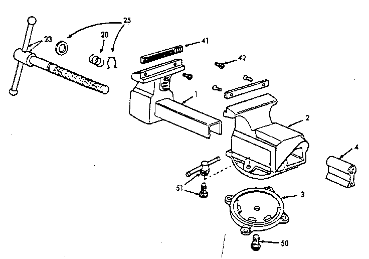 Craftsman model 51865 vise genuine parts