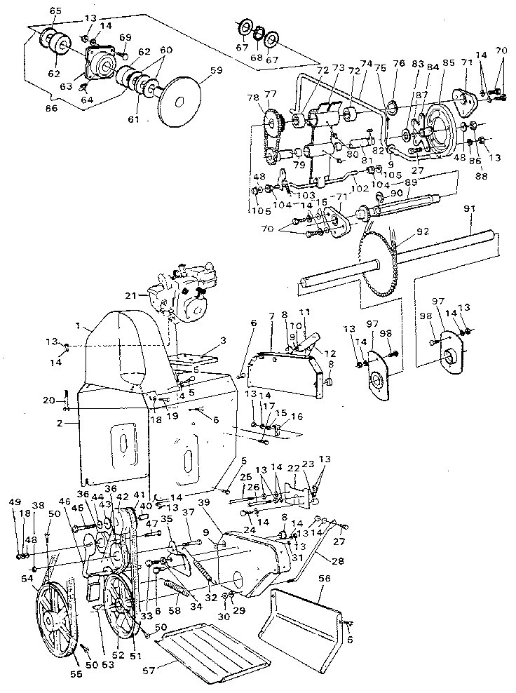 Craftsman model 536885000 snowthrower, gas genuine parts