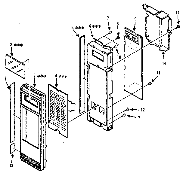 Kenmore model 5668844780 countertop microwave genuine parts
