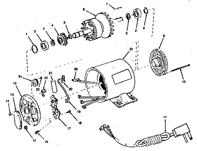 Craftsman model 11312006 motor electric genuine parts