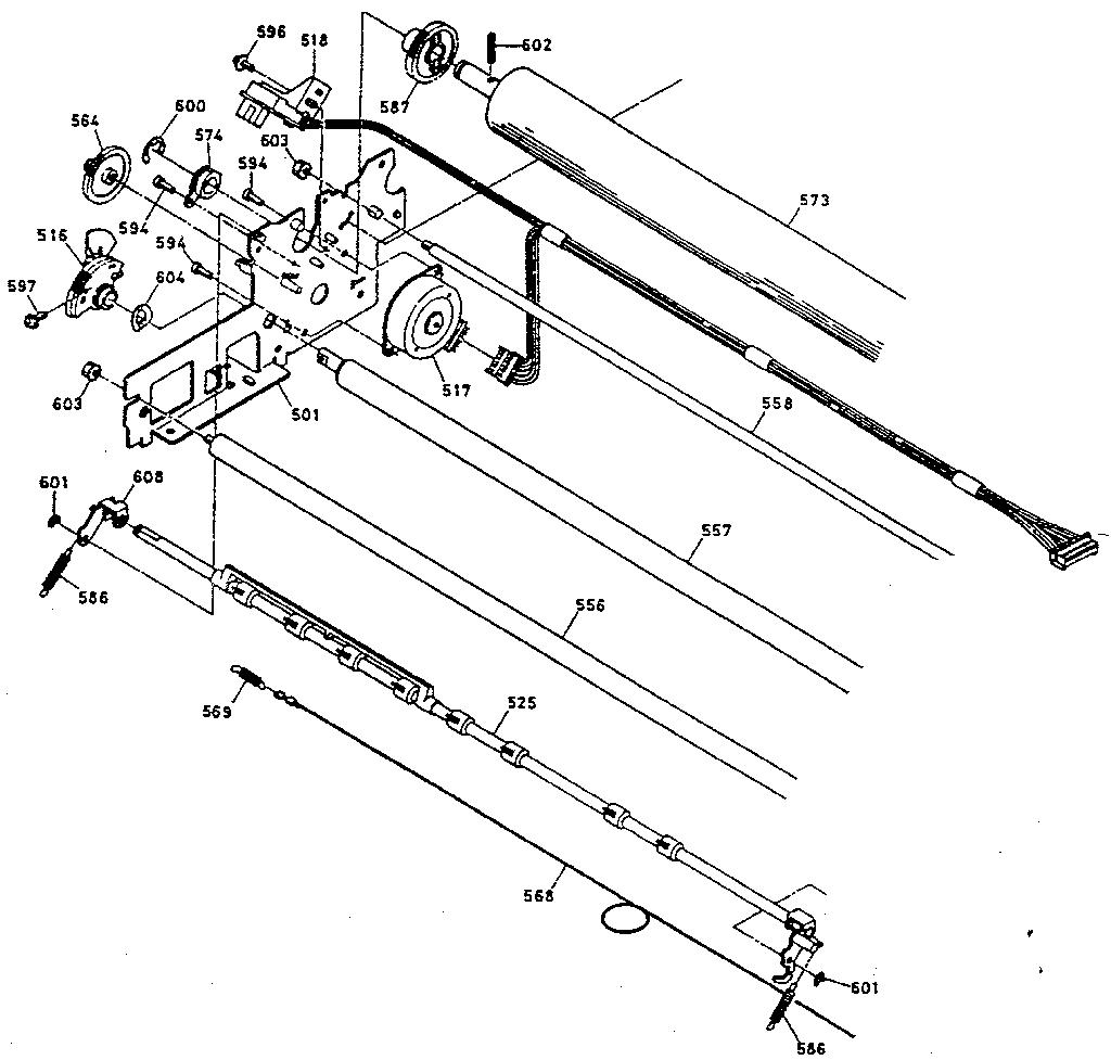 Epson model LQ-2550 computer/printer genuine parts