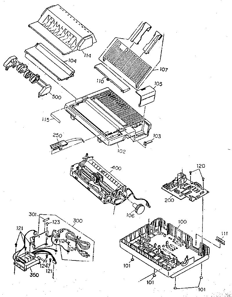 Epson model LQ-500 printer genuine parts