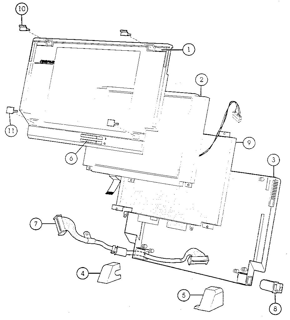 Compaq model SLT/286 computer genuine parts