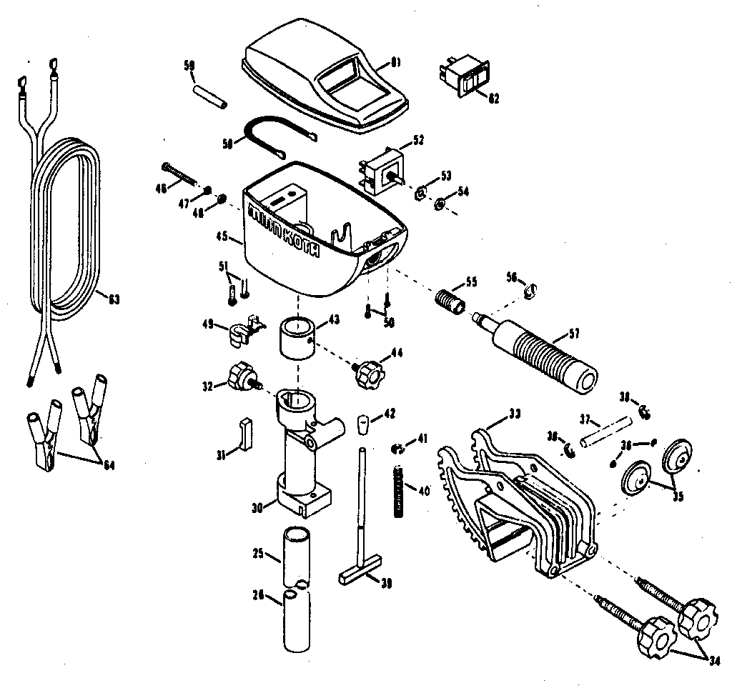 Minn-Kota model 55W boat motor electric genuine parts