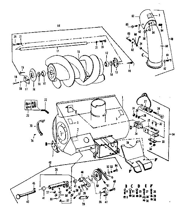 Snowblower Attachment Belt Diagram Yard Master Motor