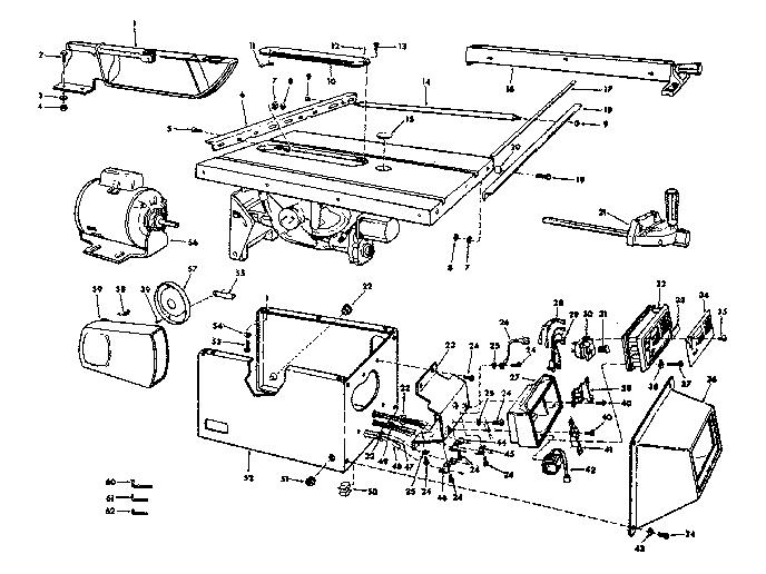 Craftsman model 113290060 table saw genuine parts