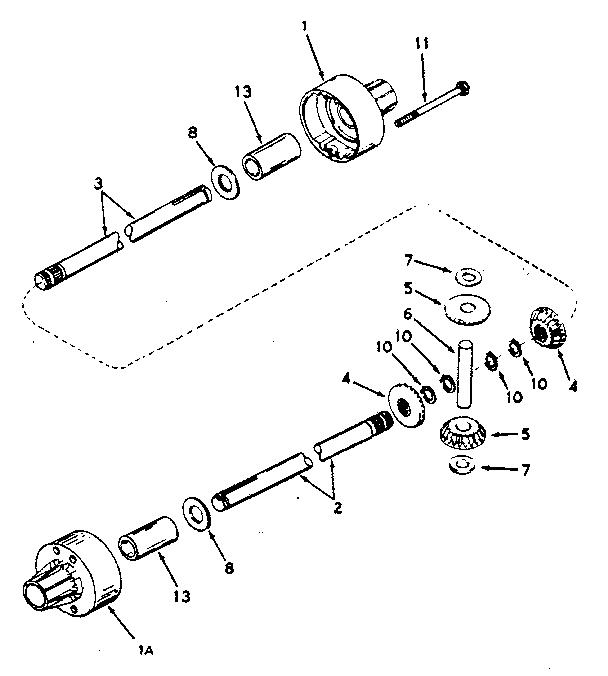 Craftsman model 143100-055A transaxle/transmission