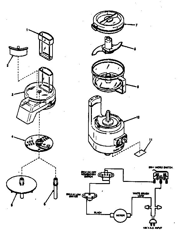 Kenmore model 400696800 food processor genuine parts