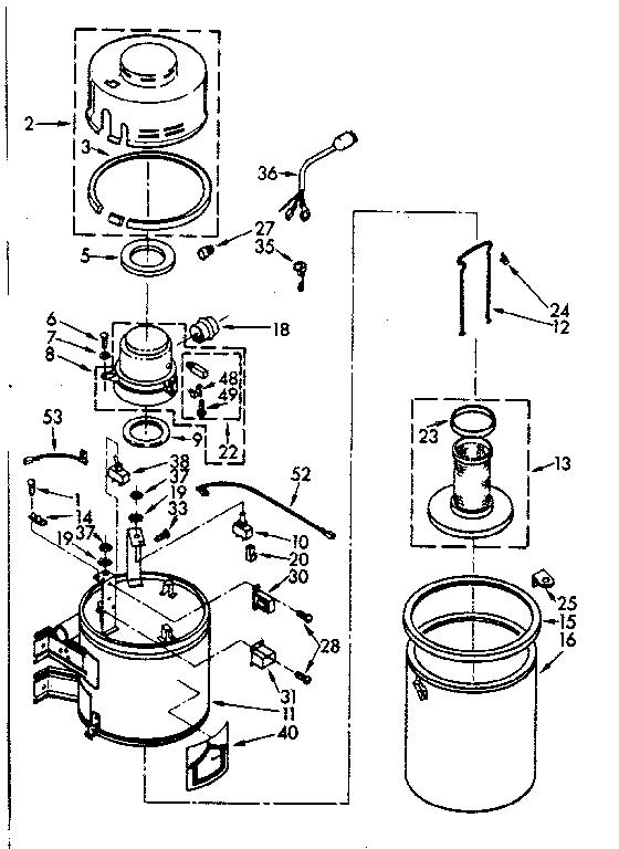 Kenmore model 11640540 vacuum, built-in genuine parts
