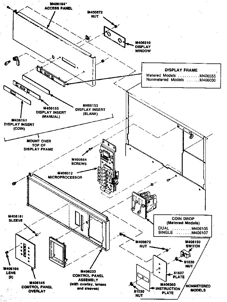 Huebsch model 30XG commercial dryer genuine parts
