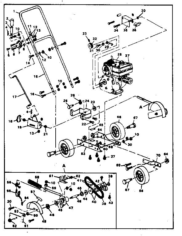 Craftsman model 536796526 edger genuine parts